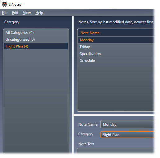 ElNotes interface image